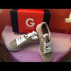 Beautiful Guess Sneakers NIB Brand New Gold/Beige Guess Sneakers.  New in Box Guess Shoes Sneakers