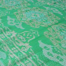 kunststof kleed large | medaillon - mint - ecru