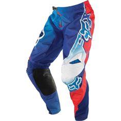FOX 360 FLIGHT PANT - BLUE/RED Mtb Clothing, Boy Fashion, Mens Fashion, Motorcycle Jacket, Bomber Jacket, Bad Boy Style, Motocross Gear, Types Of Jackets, Fox Racing