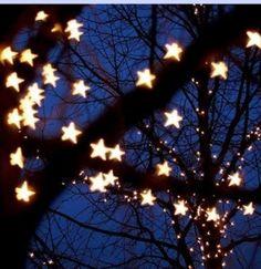 Starry Night Wedding Hanging Star Lights.