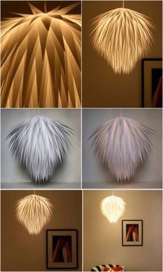 a cross between a palm tree & pom poms! This mod chandelier is one of 16 Genius DIY Lamps and Chandeliers To Brighten Up Your Home