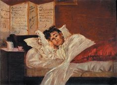 Wounded Rimbaud by Jef Rosman, 1873. Chez Mde Pincemaille.