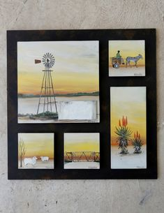 Shaggy, Glass Panels, Fused Glass, Landscape, Frame, Home Decor, Picture Frame, Scenery, Decoration Home