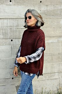 'Cranberry Goose' sweater / vest knitting pattern by Thea Colman. #vestswomens