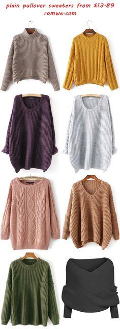 plain pullover sweaters - romwe.com