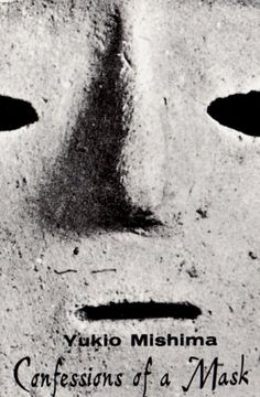 Book cover for Confessions of a Mask, so simple yet it draws you in.