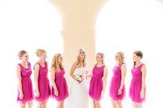 Hochzeit in Hanau | Friedatheres.com  pink bridesmaid dresses   Fotos: Hilal & Moses  Location: Wilhelmsbad in Hanau  Brautschuhe: Badgley Mischka  Brautkleid: Aire Barcelona  Blumen: Blumen Wodack