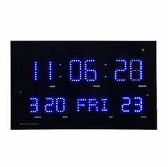 Smileto Big screen Large Slim Digital LED Calendar Wall Clock with LED Display 24 Hours Format Display Calendar Thermometer >>> Details can be found by clicking on the image.
