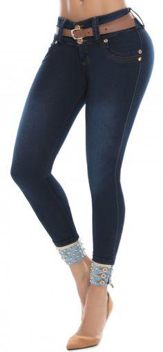 Jeans levanta cola ENE2 93384 Azul Jeans Pants, Denim Jeans, Skinny Jeans, Fashion Pants, Fashion Outfits, Womens Fashion, Girls Jeans, Jeans Women, Cut Shirts