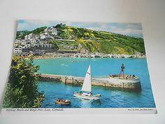 1993 John Hinde Postcard, Bathing Beach & Banjo Pier, Looe, Cornwall