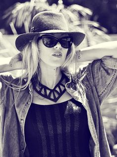 leather statement necklace - sunglasses-hat by ...love Maegan, via Flickr