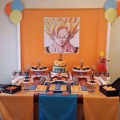 decoracion cumpleaños dragon ball z sayayin