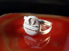 Libra Zodiac Ring Handmade Solid 925 by Tamsjewelrydesigns on Etsy