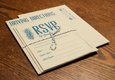RSVP and enclosure cards