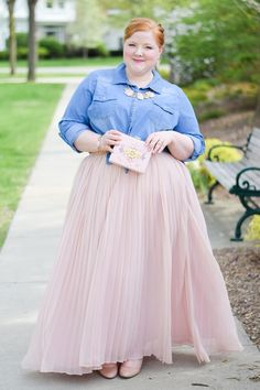 With Wonder and Whimsy Blog feature of Dainty Jewell's modest Fluttering Fancy Skirt in Blush