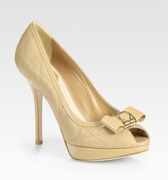 """Nude Christian Dior """"cannage"""" quilted shoes would go nicely..."""
