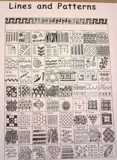 Great reference for lines and patterns