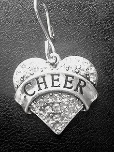 Crystal Cheer Heart, Cheerleading Jewelry, Cheer Charms, Cheer Jewelry, Cheerleading Charms Charms Cheer pendant by JSueSelling on Etsy https://www.etsy.com/listing/184783045/crystal-cheer-heart-cheerleading-jewelry