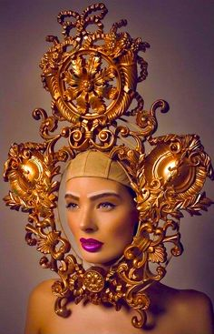 Baroque et mode Baroque Fashion, Fashion Art, Or Noir, Tiaras And Crowns, Headgear, Headdress, Costume Design, Wearable Art, Editorial Fashion