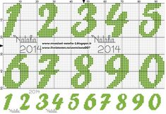 "Photo from album ""Schemi - Natalia/ Схемы - Natalia"" on Yandex. Cross Stitch Numbers, Cross Stitch Letters, Beaded Cross Stitch, Crochet Cross, Cross Stitch Embroidery, Embroidery Patterns, Crochet Alphabet, Crochet Letters, Cross Stitch Alphabet Patterns"