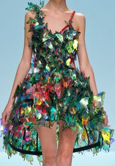 Wow look closely these are iridescent butterflies, when the light hits this dress it will look amazing x #faerie