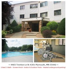 Just Listed! Condo for sale in Plymouth. Spacious 2 BDR w/ sun room & 3 Season porch. Master suite w/ mirror closet doors & private bath. Eat-in kitchen raised panel cabinets. Heated underground parking & additional storage. Lots of amenities, great location!   For more info and photos visit: http://www.mndreams.com/listing/mlsid/152/propertyid/4513196/