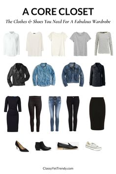 How To Create Outfits With A Core Closet: 6 Outfit Ideas - Classy Yet Trendy / capsule wardrobe Capsule Outfits, Fashion Capsule, Mode Outfits, Fashion Outfits, Diy Outfits, Dress Fashion, Fashion Games, Fashion Ideas, Fashion Trends