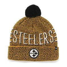 905a6c59c0a Pittsburgh Steelers Mezzo Cuff Knit Gold 47 Brand Hat