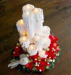 How to make christmas candle from paper roll - Simple Craft Ideas Christmas Crafts For Gifts, Noel Christmas, Christmas Candles, Christmas Projects, All Things Christmas, Christmas Decorations, Christmas Ornaments, Table Decorations, Holiday Fun