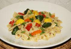 Cestoviny s cesnakom, šalotkou, patizónom a paradajkami (fotorecept) - Recept Risotto, Ethnic Recipes, Food, Eten, Meals, Diet