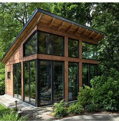 Cabin Design, Tiny House Design, Glass Cabin, Harrison Design, Backyard Studio, Tiny House Nation, Hidden Rooms, Beaux Villages, Cabins In The Woods