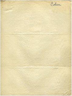 Leonard Cohen letterhead