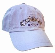 Callaway Cap - Ladies - Lilac - in mint condition. The cap is fully adjustable with a buckle closure to fit anyone and is lilac in color with purple and silver embroidery.