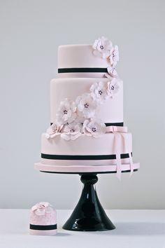 Pink anemone cake by Cakes by Krishanthi
