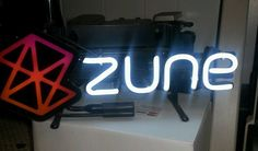 """Microsoft Zune / 14"""" Everbrite Neon Sign / Promo Store Display / Never Used NEW"""