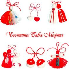 The first of March has arrived. At work today many of our coworkers presented us with the traditional martenitsa, the red and white strings . Baba Marta, Diy Christmas Gifts, Christmas Ornaments, International Craft, Arts And Crafts, Diy Crafts, Spring Sign, Day Book, Christmas Activities