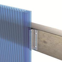 Interlocking polycarbonate system for traslucent facades - dott. Facade Design, House Design, U Glass, Loft Industrial, Building Skin, Polycarbonate Panels, Enclosed Patio, Architecture Details, Chinese Architecture