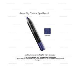 Avon Big Colour Eye Pencil Ultra Violet ~ Dual Purpose~ EyeShadow & EyeLiner New #Avon