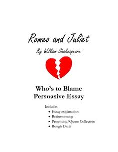 essay topic romeo and juliet