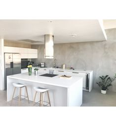 My kitchen #puustelli #homedevor #microcement #pandomo Nordic Home, Open Kitchen, Interior, Table, Furniture, Home Decor, Decoration Home, Indoor, Room Decor