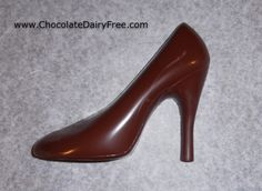 Vegan chocolate high heel shoe
