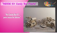 Kit Candy Bar G Para Mesa De Dulces Cupcakes Mdf Para Fiesta - $ 1,800.00