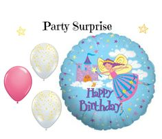 Fairy Princess Birthday Balloons Girl Birthday by PartySurprise