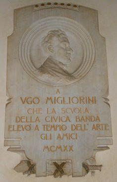 lapide Ugo Migliorini, Virgilio Milani, Conservatorio, palazzo Venezze, Rovigo by Pivari.com, via Flickr