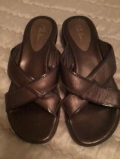 Cole Haan Leather Brown Sandals