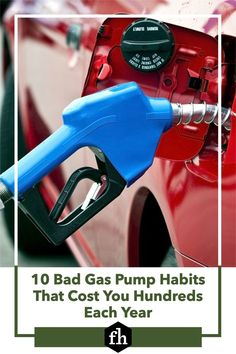These gas pump habits may seem harmless, but they're likely costing you money every time you fill up. Cheap Gas Prices, Gas Lights, Rewards Credit Cards, Gas Pumps, Car Cleaning, Gas Station, Fill, Truck, Money
