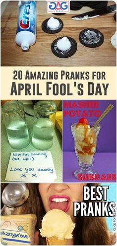 20 of the Most Amazing Pranks for April Fool's Day - Jokes - Dinner Recipes Camp Pranks, Evil Pranks, Pranks To Pull, School Pranks, Funny Prank Videos, Good Pranks, Funny Pranks, Pranks Ideas, Funny April Fools Pranks