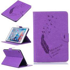 Pintura de la pu de cuero delgado del soporte de tabletas para apple ipad mini 4 Caso Cubierta de la Capa de cuero de Alta Calidad de 7.9 pulgadas patrón