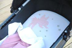 Bugaboo pram, moses basket, bassinet organic jersey fitted sheet Fairy design