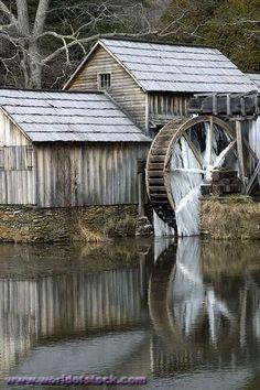 mills water wheels milling covered bridges bird aviary frozen water ...